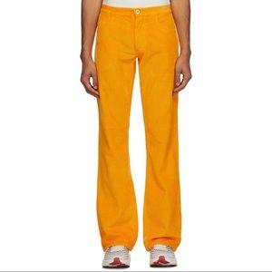 ERL orange corduroy pants trousers M